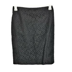 The Limited Black Lace Career Pencil Skirt Size 2